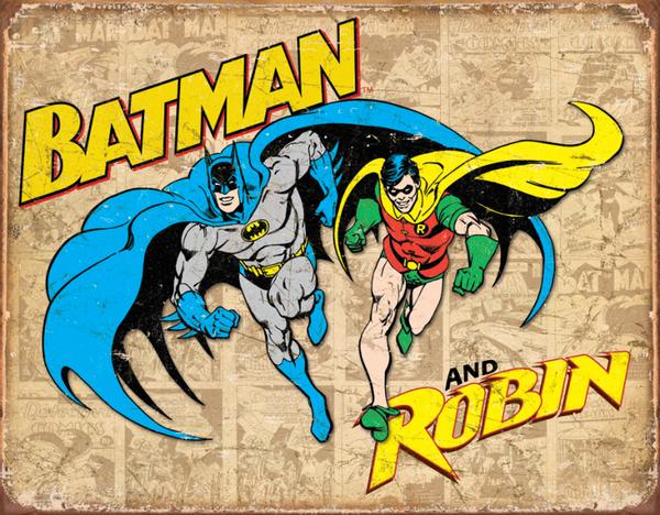 Bilde av Batman & Robin Retro Panel