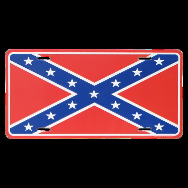 Bilde av Rebel Flag License Plate